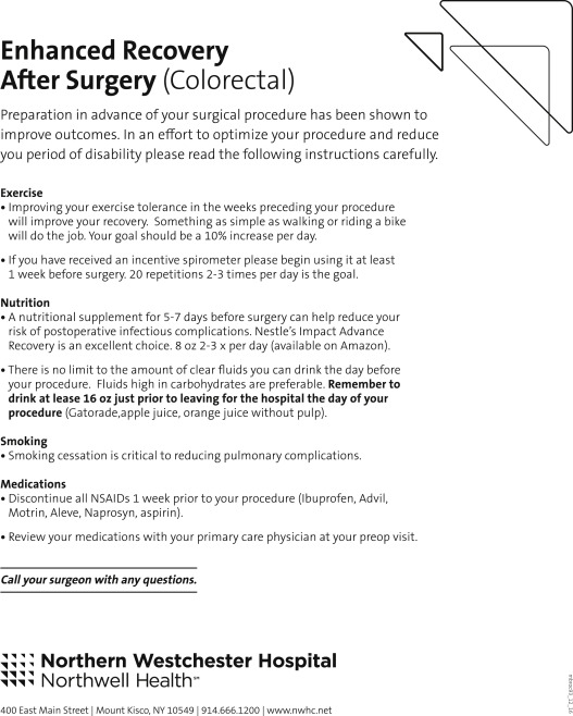 Implementation of Enhanced Recovery After Surgery in a