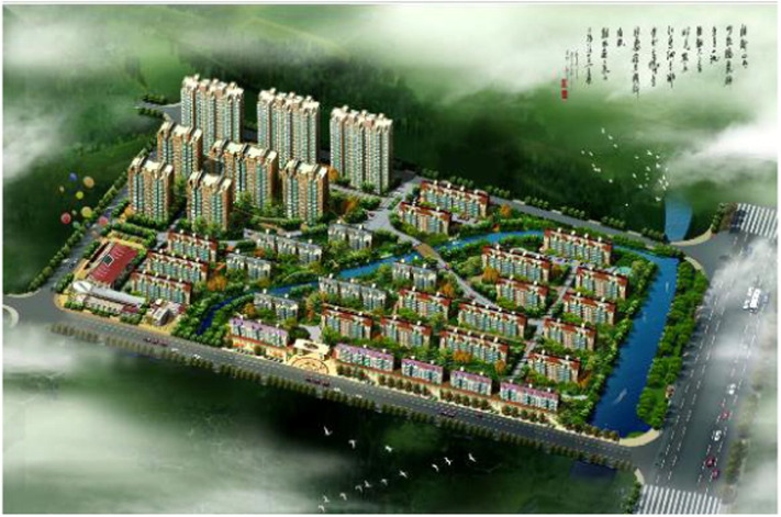 Analysis of the modern residential district planning and