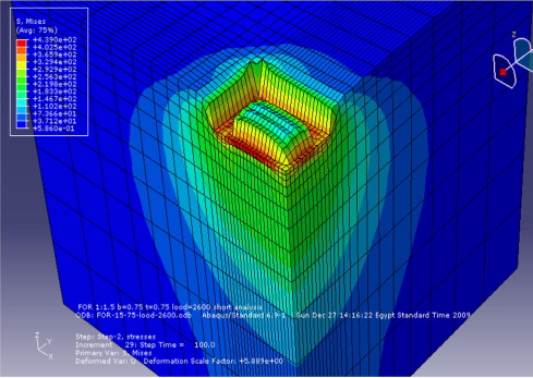 Nonlinearity analysis in studying shallow grid foundation