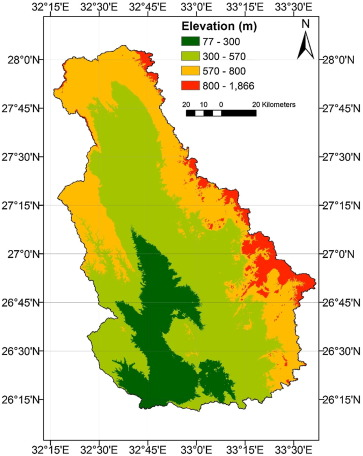 Runoff hazard analysis of Wadi Qena Watershed, Egypt based