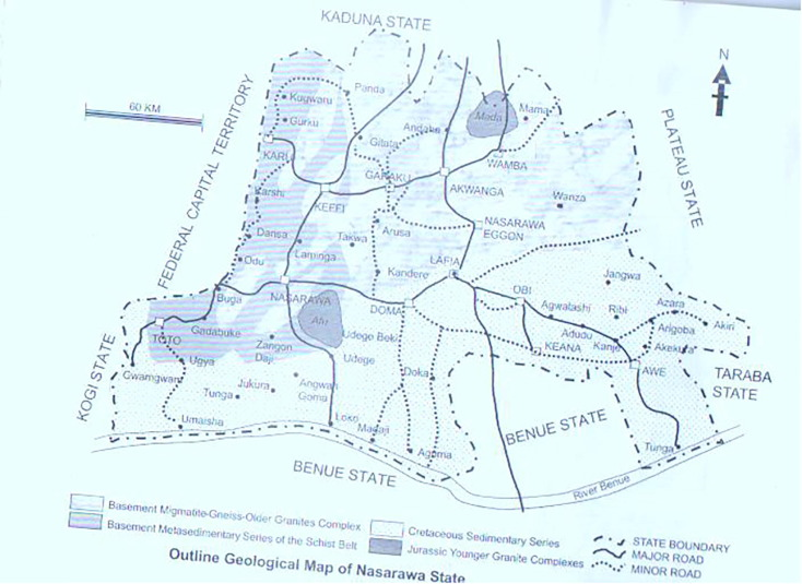 Delineation of mineral potential zone using high resolution ... on map of west indies, map of idaho, map of bauchi, map of benin city, map of port harcourt, map of abuja, map of zaria, map of nigeria, map of kano,