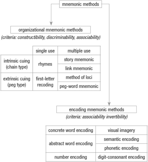 Review of mnemonic devices and their applications in