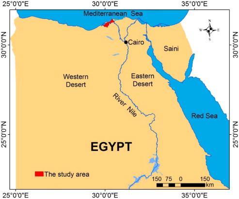 Variation Of Soil Properties Over The Landforms Around Idku Lake - Map of egypt landforms