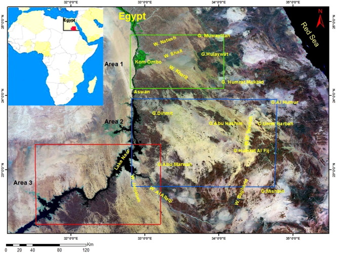 Iron Ore Prospection East Aswan Egypt Using Remote Sensing - Groundwater prospect map of egypt's qena valley