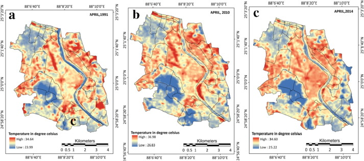 Detection of land use and land cover change and land surface