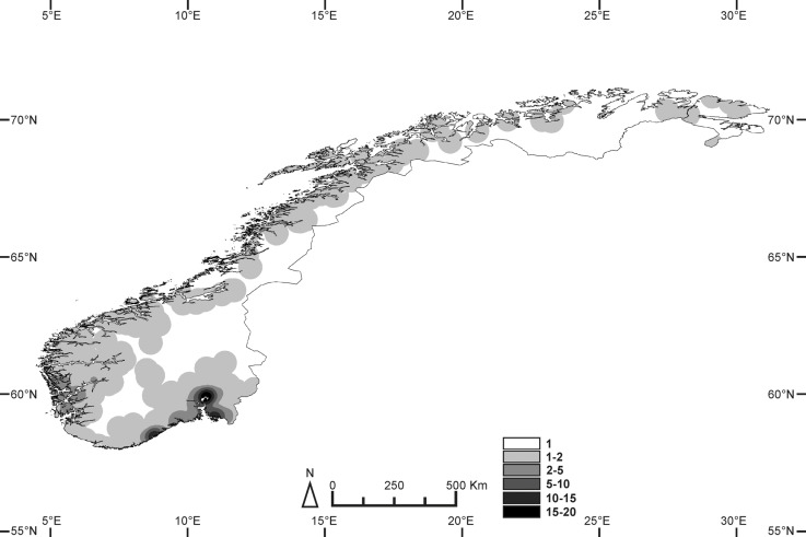 Predicting species richness and distribution ranges of centipedes at ...