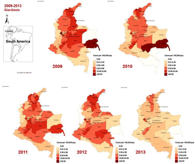 giardiasis uk prevalence