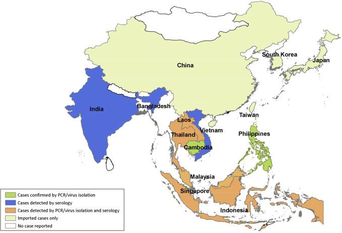Zika Virus In Asia Sciencedirect: Zika Singapore Map At Infoasik.co