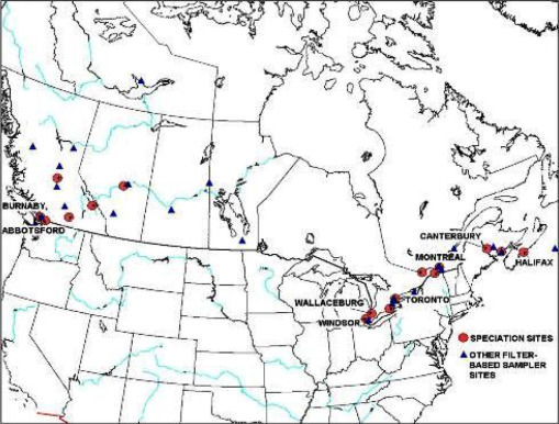 Concentration and source origin of lanthanoids in the Canadian