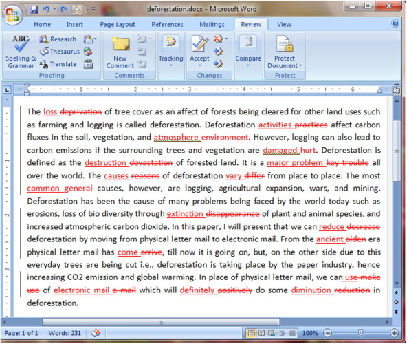 A modified approach to data hiding in Microsoft Word