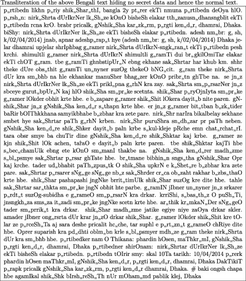 A novel steganography method using transliteration of