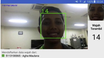 An android based course attendance system using face