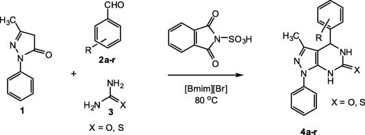 Ionic liquid 1-butyl-3-methylimidazolium bromide: A green reaction