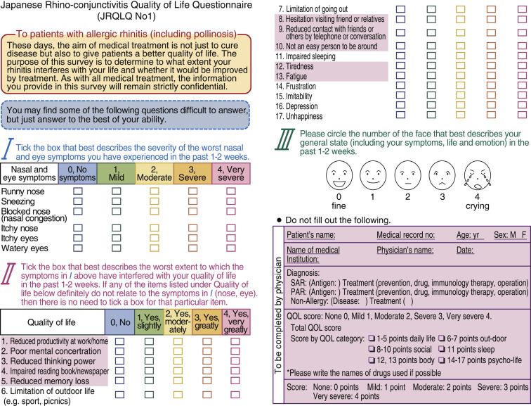 Japanese guidelines for allergic rhinitis 2017 - ScienceDirect