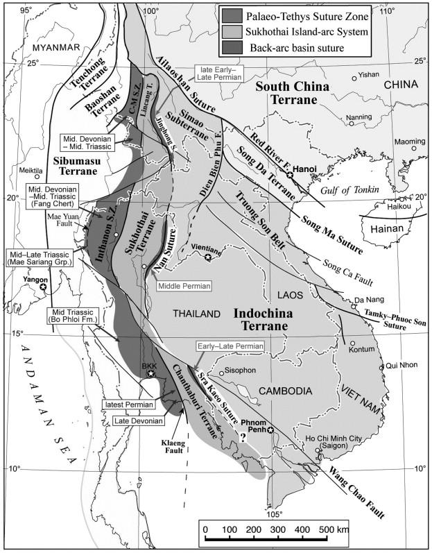 Tectonic Framework And Phanerozoic Evolution Of Sundaland