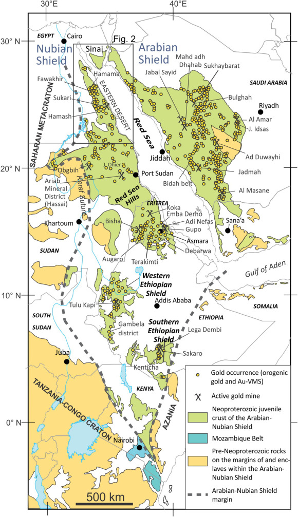 Orogenic gold in the Egyptian Eastern Desert: Widespread