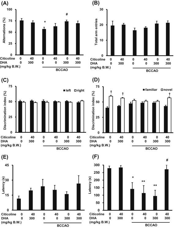Combined citicoline and docosahexaenoic acid treatment