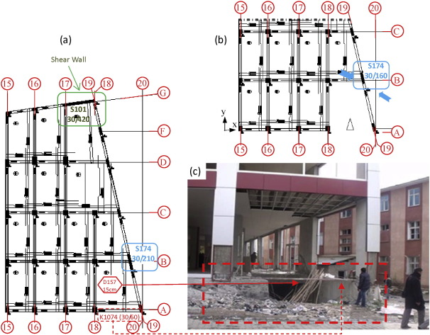 Failure analysis of newly constructed RC buildings designed