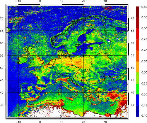 MODIS AOT data