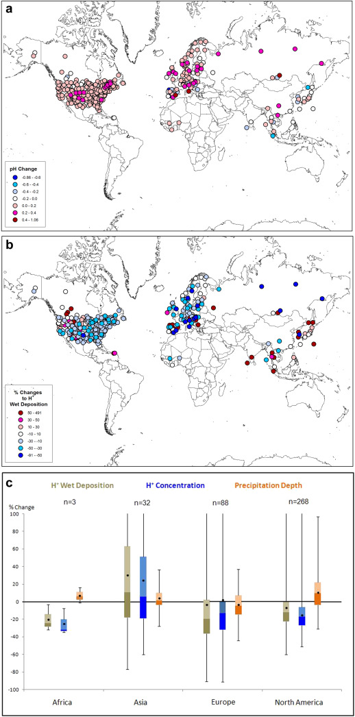 A global assessment of precipitation chemistry and deposition of