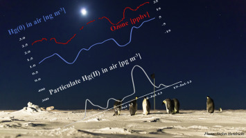 Antarctic winter mercury and ozone depletion events over sea