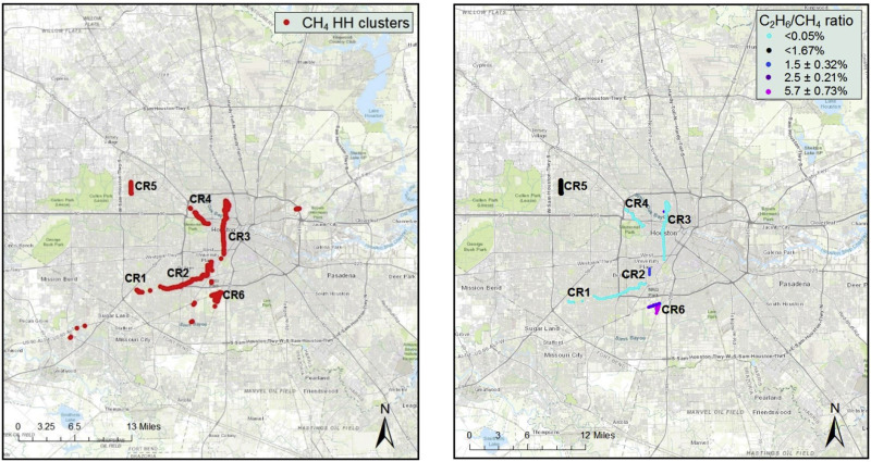 Exploratory study of atmospheric methane enhancements