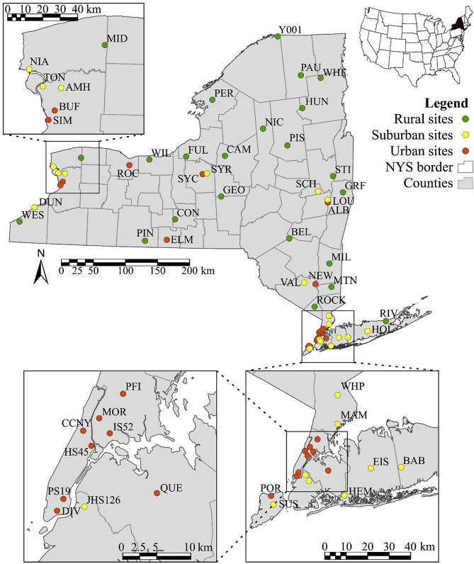 PM2 5 and gaseous pollutants in New York State during 2005–2016