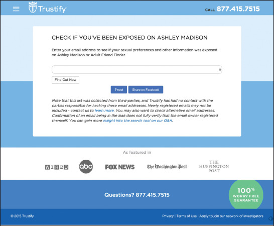 Trustify is allowing anyone to search the leaked data, but its actions have  come under fire.
