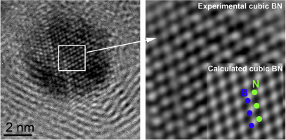 Observations of nanocrystalline cubic boron nitride formed with
