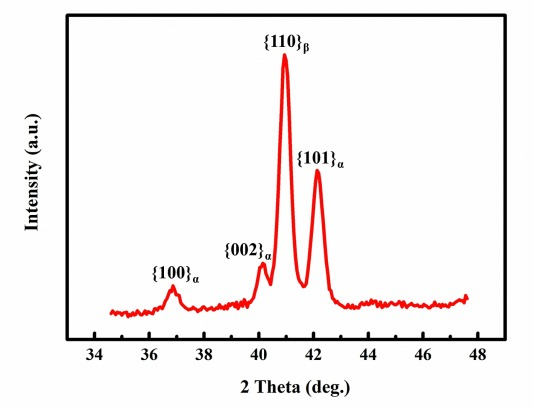 Composite structure of α phase in metastable β Ti alloys induced by