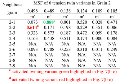 Basal slip mediated tension twin variant selection in