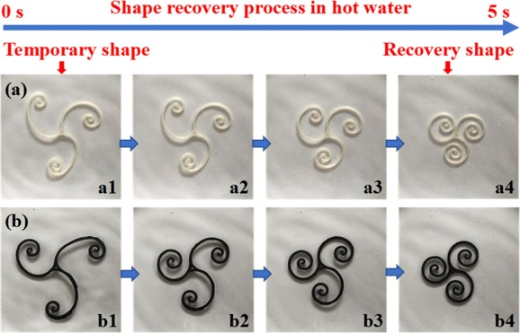 Magnetic programming of 4D printed shape memory composite structures