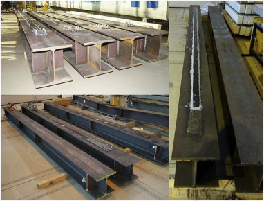 Experimental study on CFRP-strengthened steel beams
