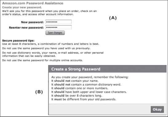 Assessing password guidance and enforcement on leading websites