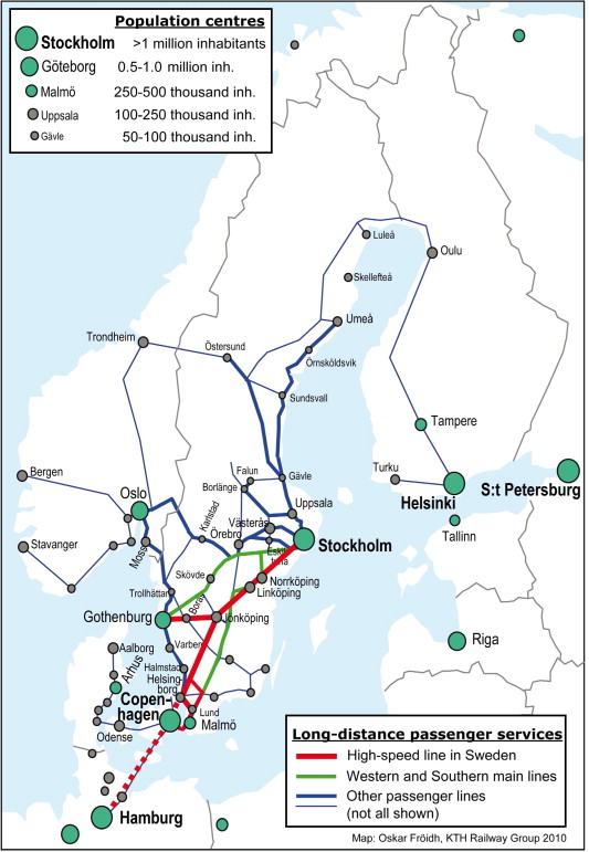The role of high-sd rail in mitigating climate change – The ... Swedish Train Map on
