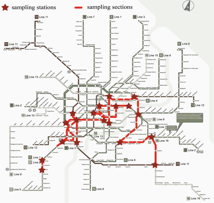 Shanghai Subway Map Vs Acutal.Evaluation Of Particulate Matter Concentration In Shanghai S Metro