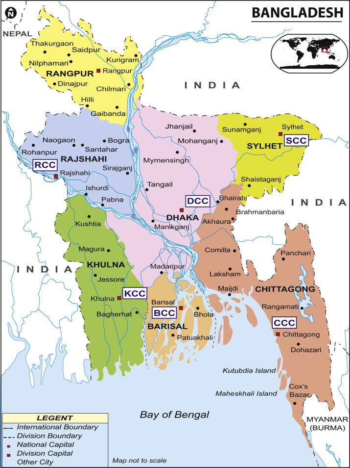Municipal Solid Waste MSW As A Source Of Renewable Energy In - Bangladesh map download