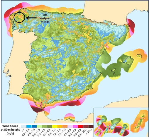 Repowering an actual possibility for wind energy in spain in a new spanish wind map yearly average wind speed at 80 m height publicscrutiny Images