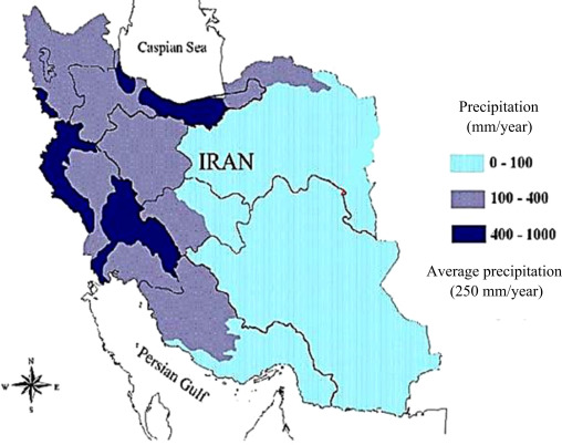 Solar desalination a sustainable solution to water crisis in iran precipitation map of iran 47 sciox Choice Image