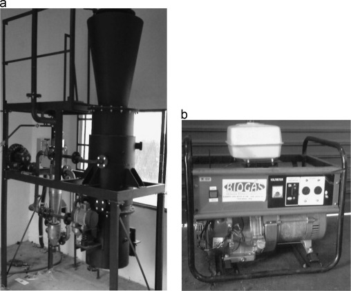 Small-scale power generation analysis: Downdraft gasifier coupled to