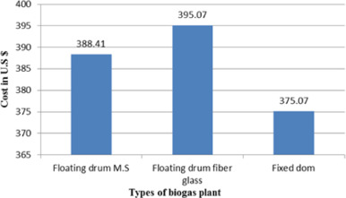 Economic review of different designs of biogas plants at