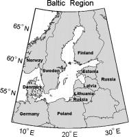 Localizzazione geografica della regione ad ovest del baltico