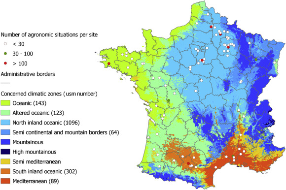Climate Zone Map Of France.Accuracy Robustness And Behavior Of The Stics Soil Crop Model For