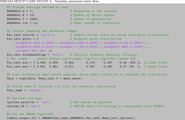 Markov chain Monte Carlo simulation using the DREAM software