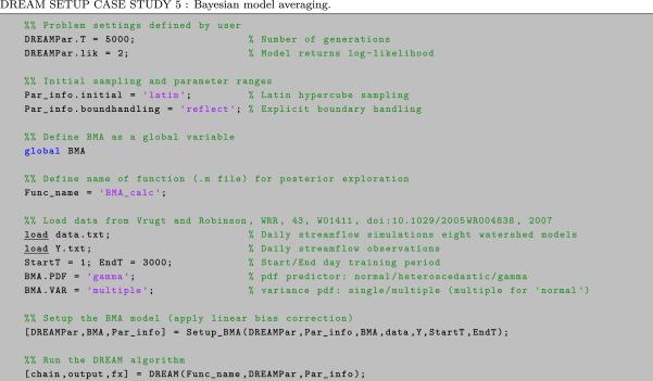 Markov chain Monte Carlo simulation using the DREAM software