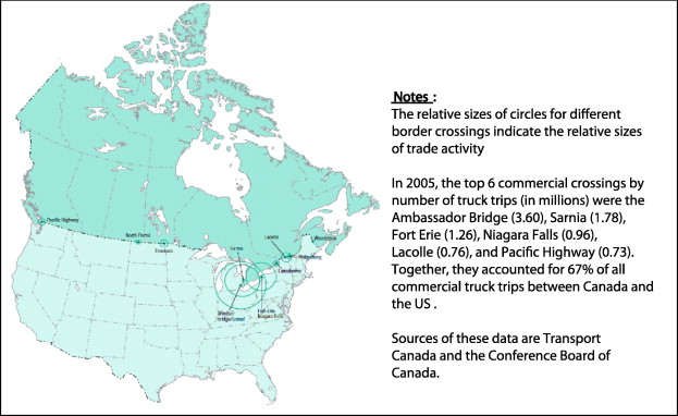 Scheduling commercial vehicle queues at a Canada–US border ...