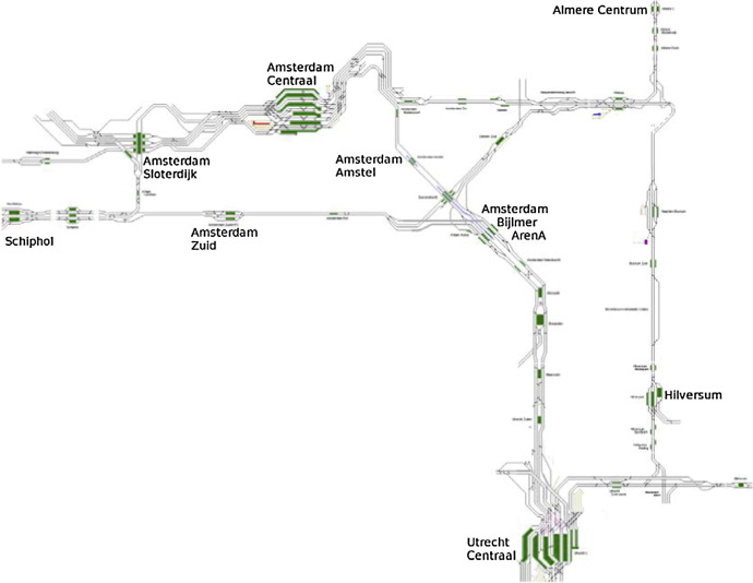 Integrating train scheduling and delay management in real-time
