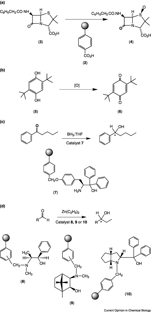 Organic synthesis using polymer-supported reagents