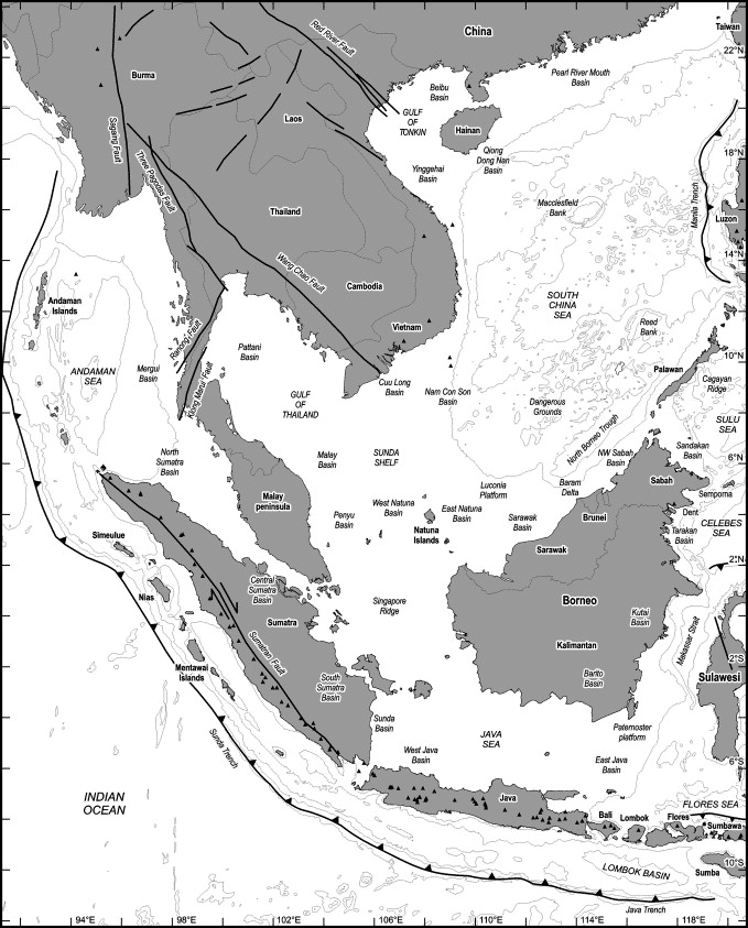 cenozoic geological and plate tectonic evolution of se asia and the Major Bodies of Water in Britain download full size image