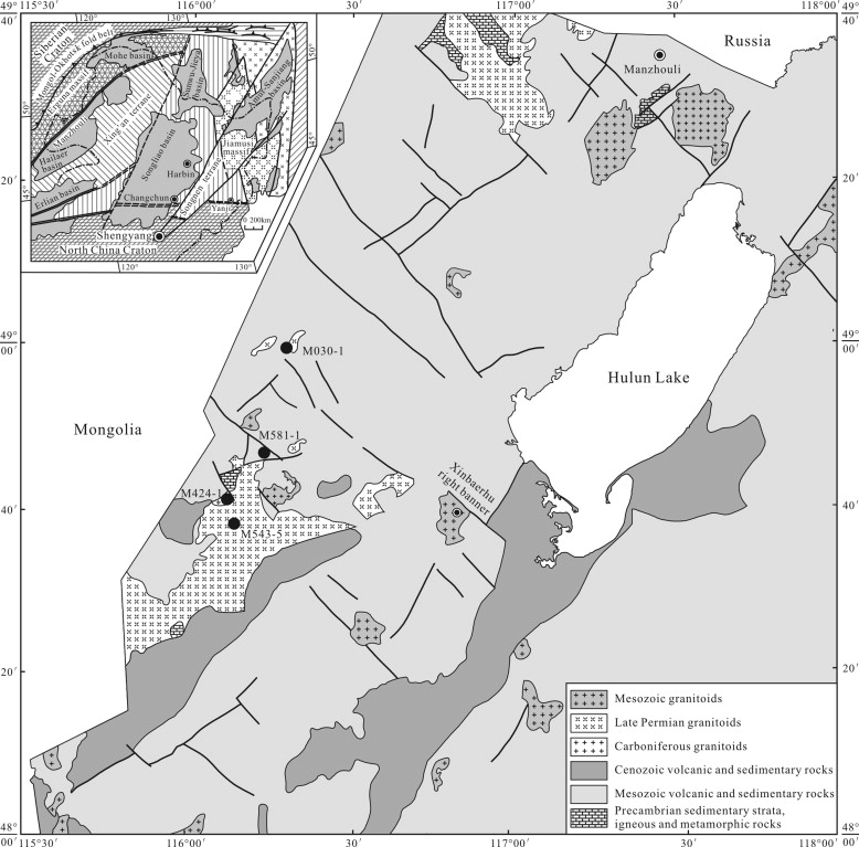 Petrogenesis And Geodynamic Setting Of Neoproterozoic And Late - Manzhouli map